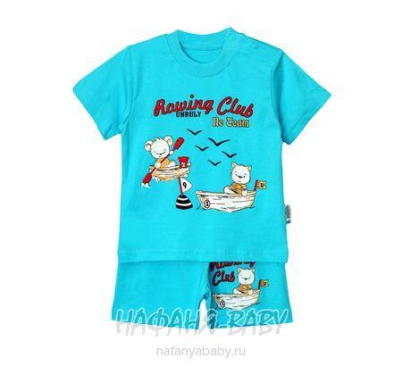 Трикотажный костюм (футболка+шорты) для мальчика UNRULY арт: 2747, 1-4 года, 0-12 мес, оптом Турция