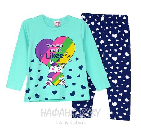 Детский костюм (кофта+лосины) Cit Cit арт: 7622, 5-9 лет, 1-4 года, цвет бирюзовый, оптом Турция