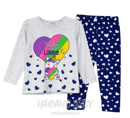 Детский костюм (кофта+лосины) Cit Cit арт: 7622, 5-9 лет, 1-4 года, цвет серый меланж, оптом Турция