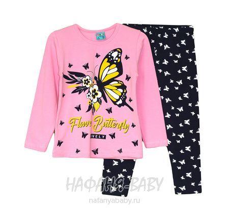 Детский костюм (кофта+лосины) Cit Cit арт: 7631, 5-9 лет, цвет розовый, оптом Турция