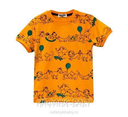 Детская футболка FAGIS арт: 6712, 1-4 года, 5-9 лет, цвет горчичный, оптом Турция