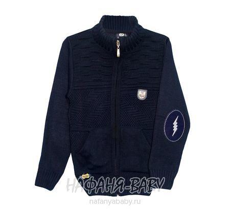 Вязанная кофта для мальчика SAHIN арт: 7070, 10-15 лет, цвет темно-синий, оптом Турция