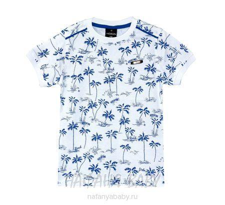 Детская футболка HEBUN арт: 16401, 1-4 года, 5-9 лет, цвет белый, оптом Турция