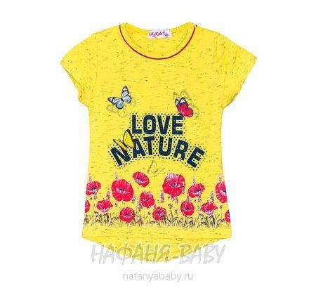 Детская футболка LILY Kids арт: 3507, 1-4 года, 5-9 лет, цвет желтый меланж, оптом Турция