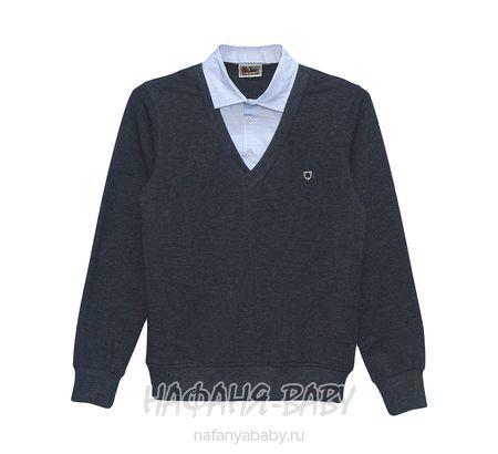 Подростковая рубашка-полувер CEGISA арт: 7815, 10-15 лет, цвет серый, голубой, оптом Турция