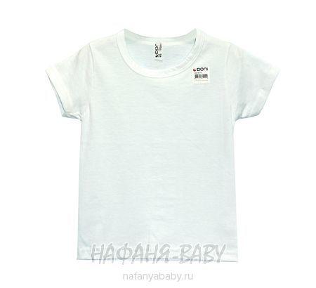 Детская белая футболка DONI арт: 79113 4-5, 5-9 лет, цвет белый, оптом Турция
