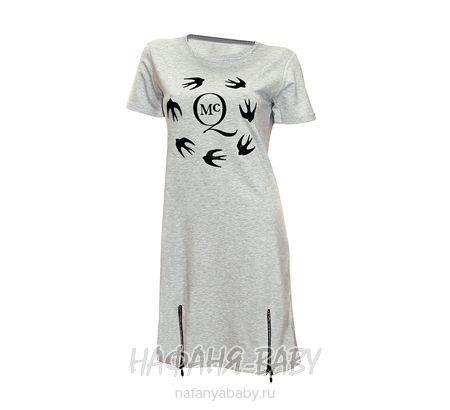 Детское платье BLUZKA арт: 9456, штучно, цвет серый меланж, размер 164, оптом Турция