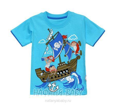 Детская футболка BABYTOM арт: 8033, 1-4 года, 5-9 лет, цвет лазурный, оптом Турция