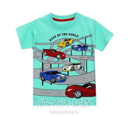 Детская футболка BABYTOM арт: 8035, 5-9 лет, цвет бирюзовый, оптом Турция