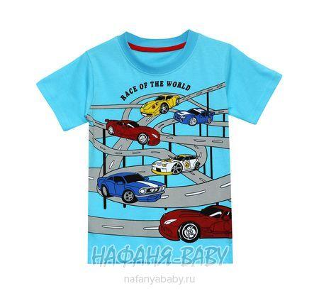 Детская футболка BABYTOM арт: 8035, 5-9 лет, цвет лазурный, оптом Турция
