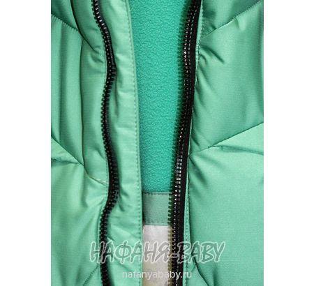 Зимнее  подростковое пальто + шарфик WEINIBOSHIMAO арт: 804, 5-9 лет, 10-15 лет, цвет зеленый чай, оптом Китай (Пекин)