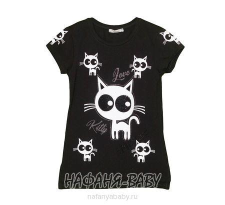 Детская футболка BENINI арт: 8252, 10-15 лет, цвет черный, оптом Турция