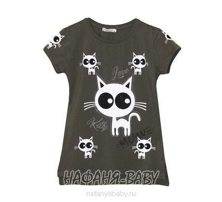 Детская футболка BENINI арт: 8252, 10-15 лет, цвет темно-зеленый хаки, оптом Турция