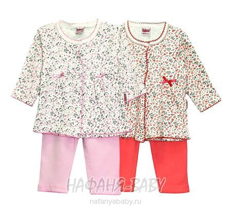 Костюм для девочки (кофта+брюки) BALENO арт: 3346, 0-12 мес, оптом Турция