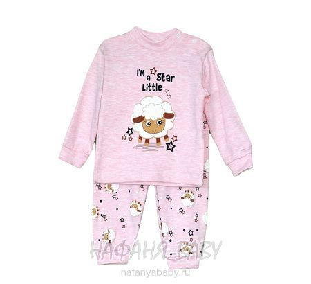 Детский костюм (кофта+брюки) Mini KALPLER арт: 844, 1-4 года, 0-12 мес, цвет розовый меланж, оптом Турция