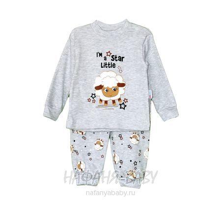 Детский костюм (кофта+брюки) Mini KALPLER арт: 844, 1-4 года, 0-12 мес, цвет серый меланж, оптом Турция