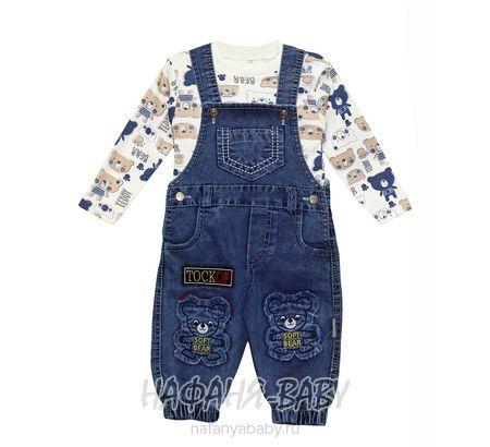 Детский комплект (кофта+джинсовый полукомбинезон) KITY&MITY арт: 84995, 1-4 года, оптом Турция