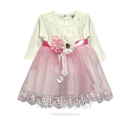 Нарядное платье для малышки MERIG арт: 866, 0-12 мес, оптом Турция