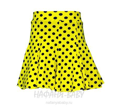 Детская юбка KLAS арт: 2023, 5-9 лет, цвет молочный в мелкий горох, оптом Турция