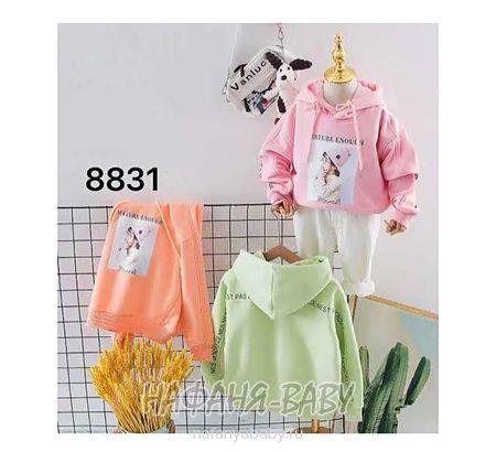 Детская толстовка BLBB арт: 8831, 10-15 лет, 5-9 лет, цвет розовый, оптом Китай (Пекин)