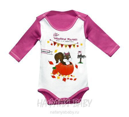 Детские боди PABBUK арт: 4609, 0-12 мес, цвет малиновый, оптом Турция