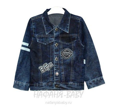 Детская джинсовая куртка AKIRA арт: 1826, штучно, 5-9 лет, 1-4 года, цвет темно-синий, размер 104, оптом Турция