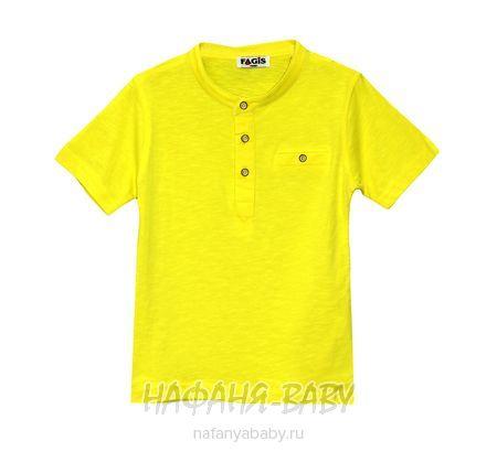Детская футболка FAGIS арт: 9011, 5-9 лет, 10-15 лет, цвет желтый, оптом Турция