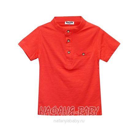 Детская футболка FAGIS арт: 9011, штучно, 5-9 лет, цвет коралловый, размер 110, оптом Турция