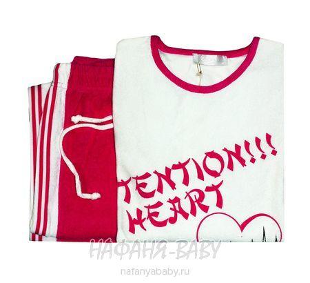 Детский костюм COCOON арт: 9014, штучно, 10-15 лет, молодежный, цвет кофта - белый, брюки - розовый, размер 176, оптом Турция