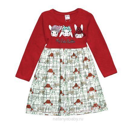 Детское платье PINK арт: 9229, 1-4 года, 5-9 лет, оптом Турция