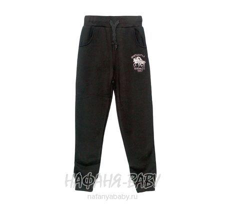 Детские трикотажные брюки с начесом  VIVID BASIC арт: 2096, штучно, 5-9 лет, цвет черный, размер 116, оптом Китай (Пекин)