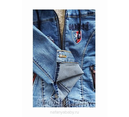 Джинсовая утепленная куртка TATI Jeans арт: 9224, 1-4 года, 5-9 лет, цвет синий, оптом Турция