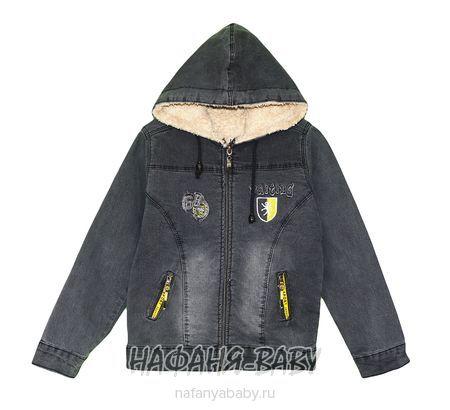 Джинсовая утепленная куртка TATI Jeans арт: 9224, 1-4 года, 5-9 лет, цвет черный, оптом Турция