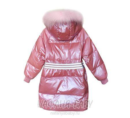 Зимнее пальто для девочки MAY JM арт: 9226, штучно, 10-15 лет, 5-9 лет, цвет чайная роза, размер 128, оптом Китай (Пекин)