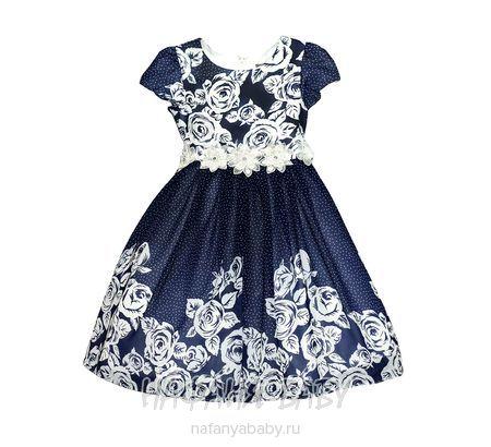 Детское платье AZ.Buka арт: 17008, штучно, 5-9 лет, 10-15 лет, цвет темно-синий, размер 140, оптом Китай (Пекин)