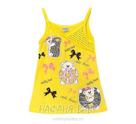 Детская трикотажная туника NARMINI арт: 955, штучно, 1-4 года, цвет желтый, размер 92, оптом Турция