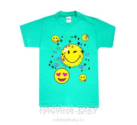 Детская футболка HASAN Bebe арт: 1339, 1-4 года, 5-9 лет, цвет желтый, оптом Турция