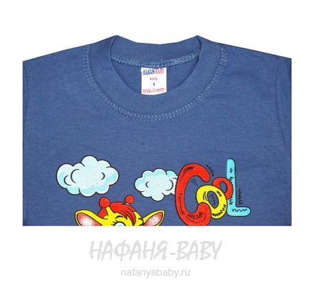 Детская футболка HASAN Bebe арт: 4022, 1-4 года, цвет сине-серый, оптом Турция
