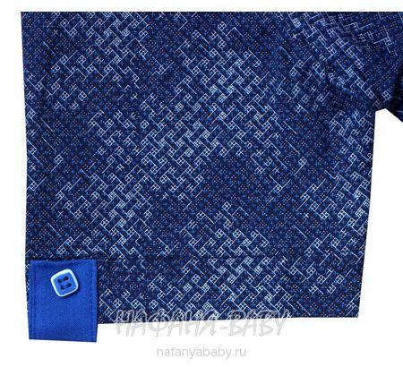 Детская рубашка NORMANI арт: 336 10-14, 10-15 лет, цвет темный с бордовой вставкой, оптом Турция