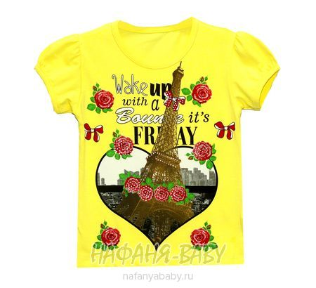 Детская футболка UNRULY арт: 2957, 1-4 года, 5-9 лет, цвет желтый, оптом Турция