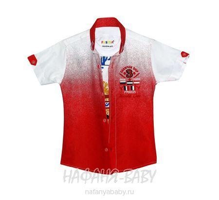 Детская рубашка+майка, артикул 118 9-12 FABISA арт: 118 9-12, цвет красный, оптом Турция