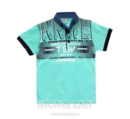 Детская рубашка-поло TOTTI арт: 1070 5-8, 5-9 лет, цвет темно-синий, оптом Турция