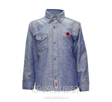Детская рубашка WAXMEN арт: 5108, штучно, 5-9 лет, цвет серо-голубой, размер 110, оптом Турция