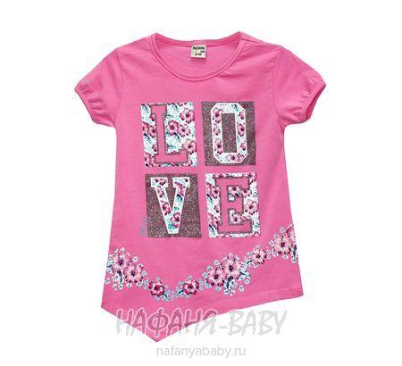 Детская трикотажная туника NARMINI арт: 5558, 1-4 года, 5-9 лет, цвет розовый, оптом Турция