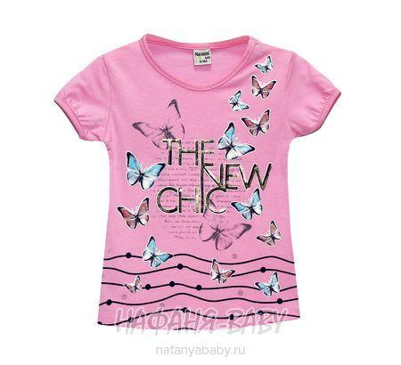 Детская футболка NARMINI арт: 5564, штучно, 5-9 лет, цвет розовый, размер 110, оптом Турция