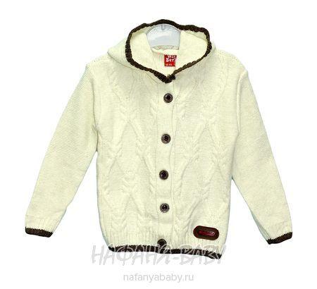 Вязанный кардиган с капюшоном WII BERY арт: 5160, 1-4 года, цвет молочный, оптом Турция