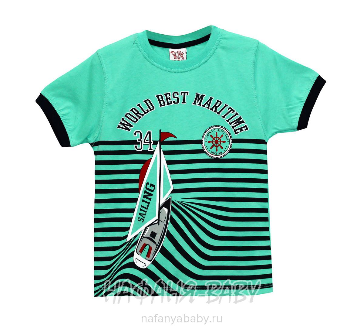 Детская футболка, артикул 2112 USLU BEBE арт: 2112, 1-4 года, 5-9 лет, цвет желтый, оптом Турция