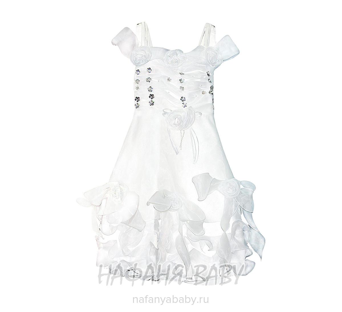 Детское нарядное платье  арт: 1013, 5-9 лет, 1-4 года, цвет белый, оптом Китай (Пекин)