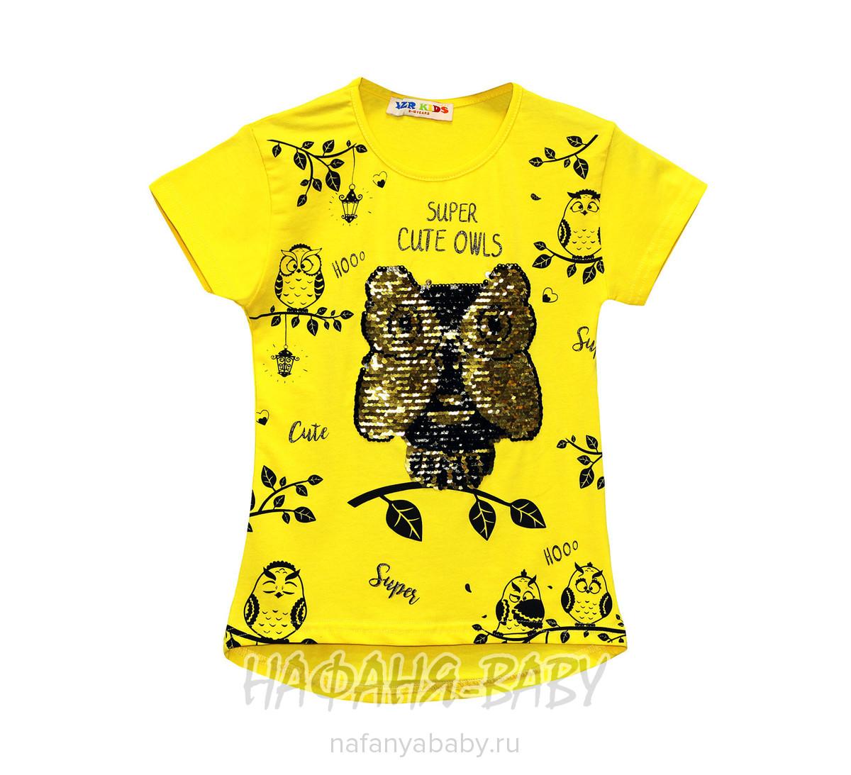 Детская футболка, артикул 2206 YZR арт: 2206, цвет желтый, оптом Турция