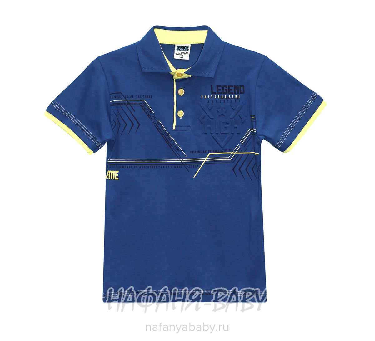 Детская рубашка-поло RCW арт: 5434, 5-9 лет, цвет серый меланж, оптом Турция